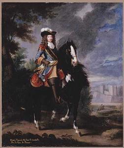 Ruiterportret van Henri François De Foix de Candelle, Duc de Randan, Comte de Curson, Marquis de Sennecey, Pair de France (1640-1714)