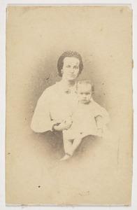 Portret van Hester Maria Hana (1835-1868) en Ida Jacoba Monod de Froideville (1863-)