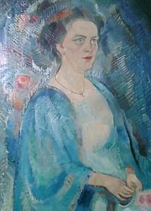 Portret van mevrouw O. Esser-Hazelhoff Roelfzema
