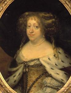 Portret van Sophie Amalie van Brunswijk Lüneburg (1628-1685), echtgenote van Koning Frederik III van Denemarken