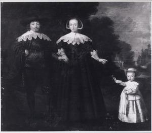 Familieportet van onbekende personen