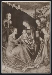 Maria met kind en heiligen