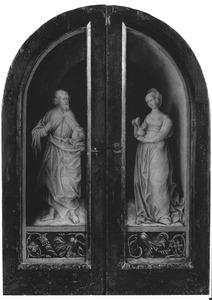 Johannes de Evangelist (links); Maria Magdalena (rechts)
