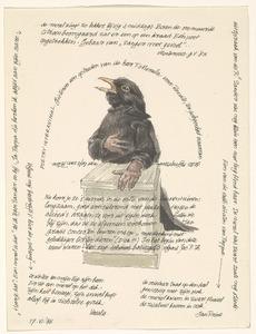 Brief met zingende merel aan Renate Rubinstein