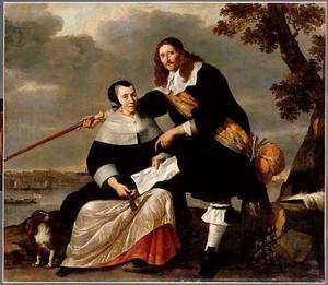 Portret van Hendrick Heuck (?-1677) en Catharina Brouwers (?-?)