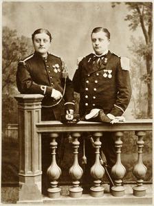 Portrait of Willem Frederik Paehlig (1851-1914) en Onno Reint Paehlig (1851-1889)