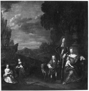 Groepsportret van Coenraad Willem van Dedem (1644-1714), Anna Elisabeth van Echten en hun kinderen