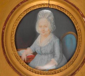 Portret van Sara  Reber-Passavant (1744-1815), de vrouw van de Bazelse kunstverzamelaar Nicolas Reber-Passavant