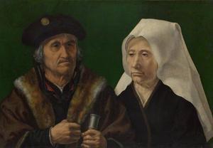 Portret van een bejaard echtpaar