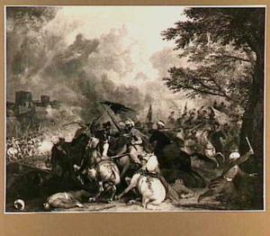 Ruitergevecht tussen Oostenrijkers en Turken