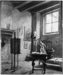 Het atelier van een kunstenaar