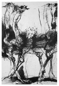 Groep struisvogels
