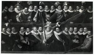 Officieren en schutters Haarlemse schutterijen, 1594