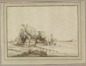 Landschap met boerderij, herberg en duiventil, buiten Amsterdam