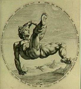 Een van de vier zondaars: Icarus