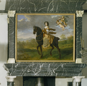 Dorothea van Holstein-Glückburg te paard