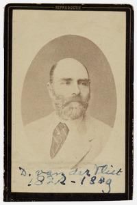 Portret van David van der Vliet (1822-1889)