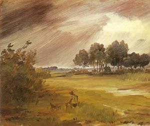 Landschap onder de regen