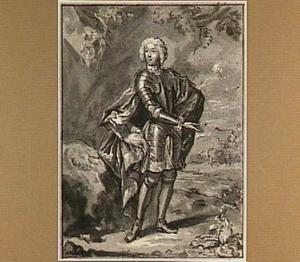 Portret van een staande militair