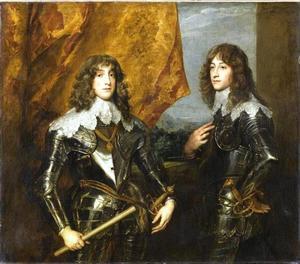 Dubbelportret van Karl Ludwig van de Palts, later keurvorst van de Palts (1617-1680) en Ruprecht van de Rijn (1619-1682)