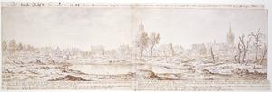 Delft na de ontploffing van de kruittoren in 1654