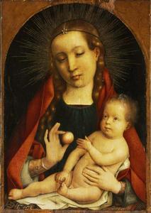 Maria met kind en appel