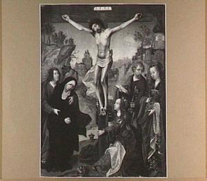 De kruisiging met de HH. Petrus en Barbara