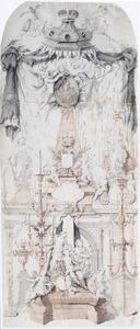 Ontwerp voor de katafalk van keizer Karel VI in de Onze-Lieve-Vrouwkathedraal te Antwerpen