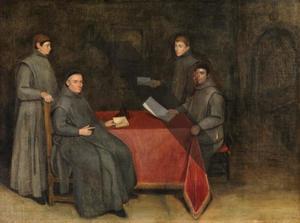 Portret van vier Franciscaanse monniken