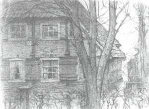 The weavers' house, drawing