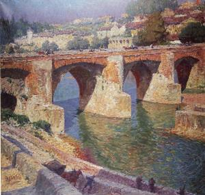 De Pont-Vieux over de rivier de Tarn