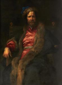 Portret van de eenarmige landschapsschilder Marten Ryckaert