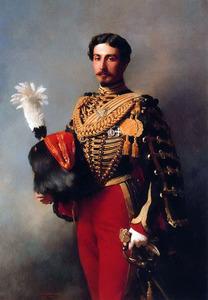 Portret van Edouard André (1833-1894)  in uniform van de keizerlijke garde