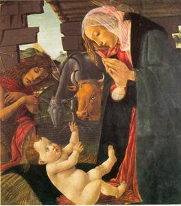 De Maagd Maria en de Heilige Johannes aanbidden het Christuskind