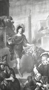 Adolf I van Schleswig-Holstein-Gottorf treft in 1560 een leeuw aan het Engelse hof aan