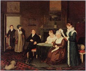 Portret van Willem Jacob de Bruijn de Neve (1759-1834) en zijn familie