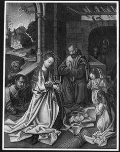 De geboorte met de aanbidding van de herders