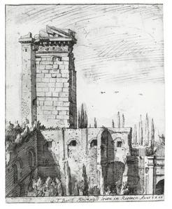 Ruïne van de Frontispizio di Nerone op het Quirinaal te Rome