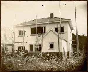 Ouderlijk huis van Dick Ket in aanbouw, 1930