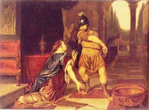 Circe smeekt Odysseus haar leven te sparen