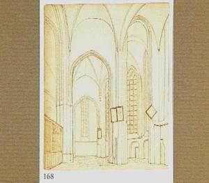 Interieur van de Jacobikerk in Utrecht