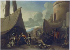 Legerkamp bij een bastion