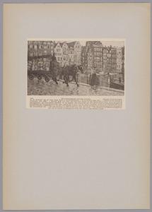 Gezicht op het Damrak te Amsterdam, stille zijde