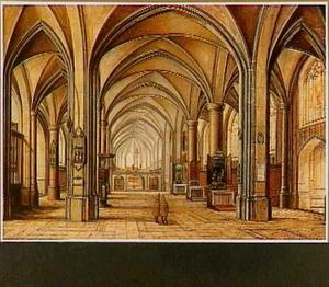 Interieur van Gothische kerk