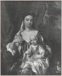 Dubbelportret van Catharina van der Waeyen (1694-1763) met een kind