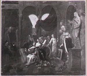 Allegorie op schilderkunst en de muziek