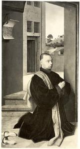 Portret van een mannelijke stichter