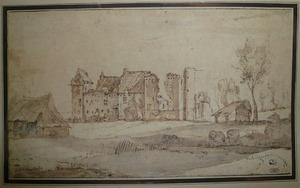 Ruïne van een ongeïdentificeerd kasteel