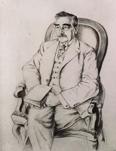 Portret van Cornelis Anthonie Jacobus van Dishoeck (1863-1931)