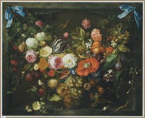 Guirlande van vruchten en bloemen